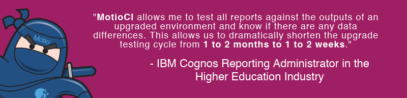 Cognos Upgrade Testing Cycle