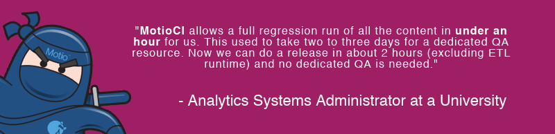 MotioCI Cognos Regression Testing