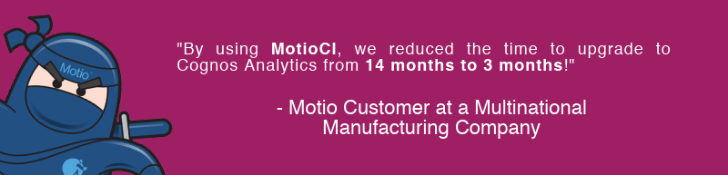 MotioCI Reduced Cognos Upgrade Time