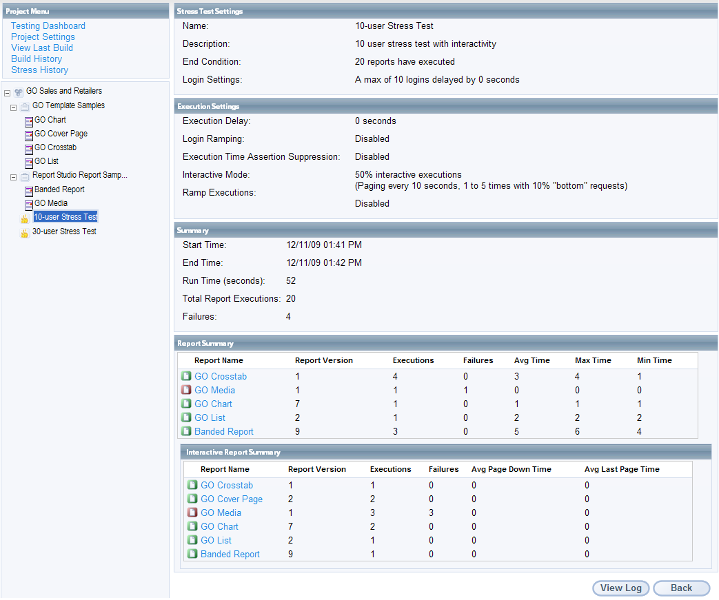Stress Test What Is It: Automated Cognos Testing