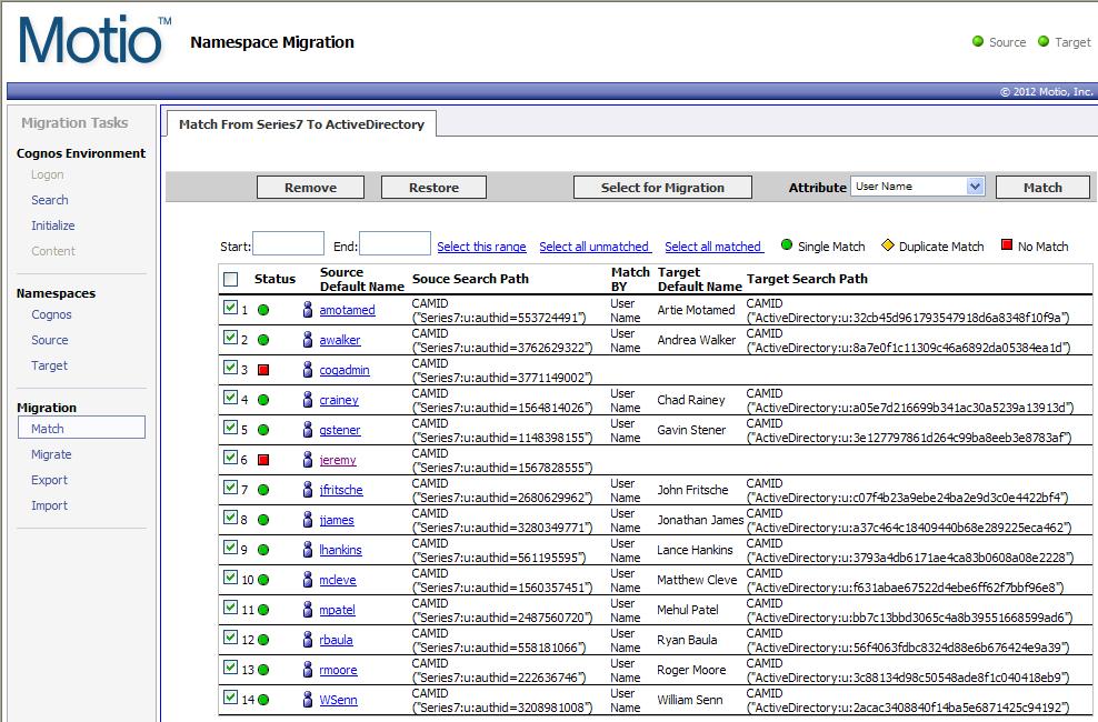 Motio - Namespace Migration