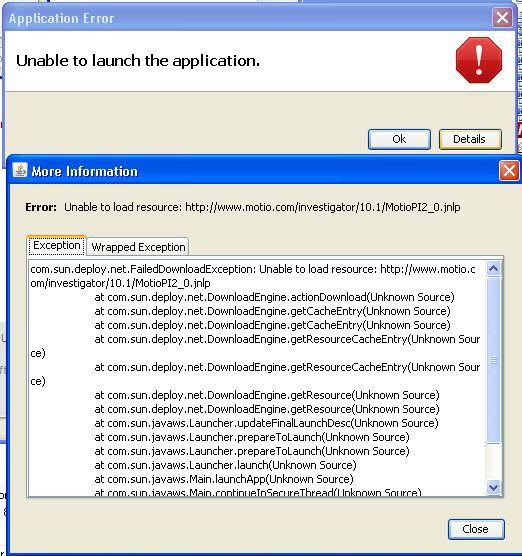 proxy error message